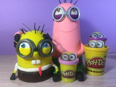 SpongeBob and Patrick as Minions. Make them yourself with Play-Doh. Be creative with your children, it is so much fun. htto://youtu.be/nTUqwO3SrNY