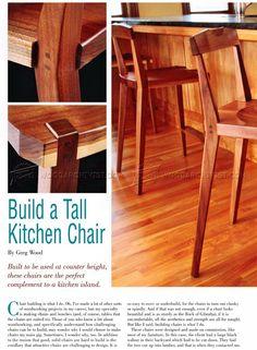 #2426 Kitchen Chair Plans - Furniture Plans