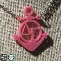 Delta Gamma Greek Licensed Icon Necklace by TheMCL.co http://mycapitalletters.com