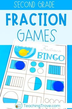 Fraction games and activities are a fun way for your second grade students to consolidate their understanding of fractions. They can be used in math centers, for partner work, morning work, or as extra activities for early finishers. This pack aligns to the Australian curriculum.  #fractiongames #fractions