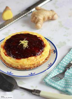 Ginger cheesecake - Me encantan las tartas de queso horneadas, las clásicas New York Cheesecakes que podemos hacer de mil y una formas, todas ellas deliciosas. En est...