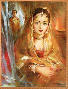 Princess - Poster Rajput Princess (Reprint on Paper - Unframed))Rajput Princess (Reprint on Paper - Unframed)) Rajasthani Painting, Rajasthani Art, Indian Women Painting, Indian Art Paintings, Tanjore Painting, Krishna Painting, Princess Painting, India Painting, Woman Painting
