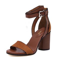 Fashion Women Ladies Open Toe Chunky High Heel Sandals Ankle Strap Buckle Shoes * Read more reviews of the product by visiting the link on the image.-It is an affiliate link to Amazon. #WeddingShoes