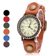 vrouwen vintage geval lederen band quartz horloge (verschill... – EUR € 8.99