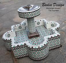 Mosaic Fountain – Page 2 – Moroccan Tiles Los Angeles Morrocan Decor, Moroccan Tiles, Backyard Garden Design, Garden Landscape Design, Design Fonte, Outdoor Ponds, Outdoor Fountains, Moroccan Garden, Garden Fountains