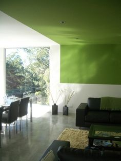 GREEN CEILING/WALL