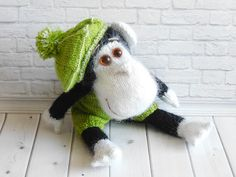 Monkey Hand-Knitted Amigurumi Toy African Animals Funny monkey