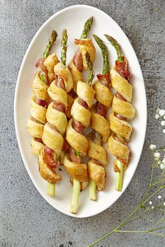 Sprigs in a Blanket – Prep everything you need for this playful take on pigs in a blanket the day before, so you only have to pop 'em in the oven once company arrives. Click through for the entire gallery and for more easter appetizers.