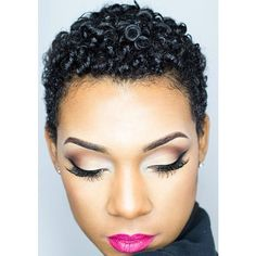 8 of the Best Short Hairstyles for Black Women ❤ liked on Polyvore featuring hair