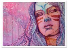 La Pricesa Guerrera - acrílico sobre tela - artista: Rosemary Norte