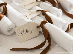 Wedding Napkin Place Cards / Wine Tags /Escort Tags Set of 25 Personalized Place cards Letterpress Wedding Invitations, Wedding Stationary, Luxury Table Lamps, Autumn Bride, Wine Tags, Beautiful Table Settings, Wedding Napkins, Deco Table, Wedding Images