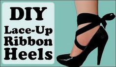 lace up heels.....video...we've done this for years!  glad to see a video on it for everybody else!!..you can also attach it at the back of the heel for another great look.