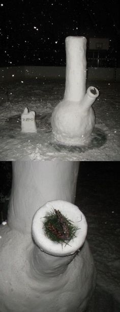OMG Snow bong!