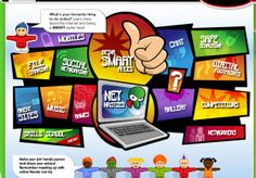 KidSmart is a site from the United Kingdom that offers a large assortment of resources and activities focused on specific topics of Internet Safety & Awareness & Digital Citzenship. Teaching Technology, Technology Integration, Educational Technology, Internet Safety For Kids, Safe Internet, Computer Teacher, Computer Lab, Computer Technology, Computer Science