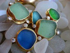 beach glass & diamonds