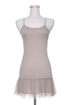 add lace to cami/tank to make extender shirt for under shorter jackets, sweaters....