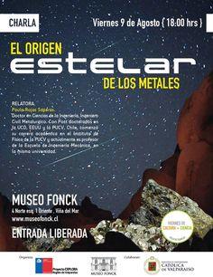 El Origen estelar de los metales este viernes en Cultura + Ciencia desde #vinadelmar