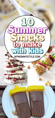 10 Fun Summer Snacks to Make With Your Kiddos - My Mommy Style Cheap Clean Eating, Clean Eating Snacks, Healthy Snacks, Kids Meals, Easy Meals, Raspberry Leaf Tea, Snacks List, Snacks To Make, Food Combining