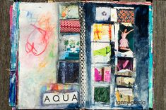Art journal page, acrylics, collage, artwork by Tammy Garcia.