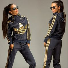 Adidas jumpsuit – equipped with great features! adidas jumpsuit article order of this product only by wholesale catalog MLRGZFE Adidas Jumpsuit, Adidas Outfit, Gold Jumpsuit, Sporty Outfits, Mode Outfits, Fashion Outfits, Sport Fashion, Fitness Fashion, Mode Adidas