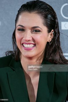 Michelle Calvo attends 'Invisibles' charity premiere at the Callao. Evan Rachel Wood, Slicked Back Hair, Wet Hair, Charity, Crushes, Spain, Hair Beauty, Hairstyles, Club