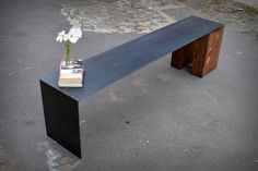 Floating Steel Waterfall Bench – Recycled Brooklyn Inc.