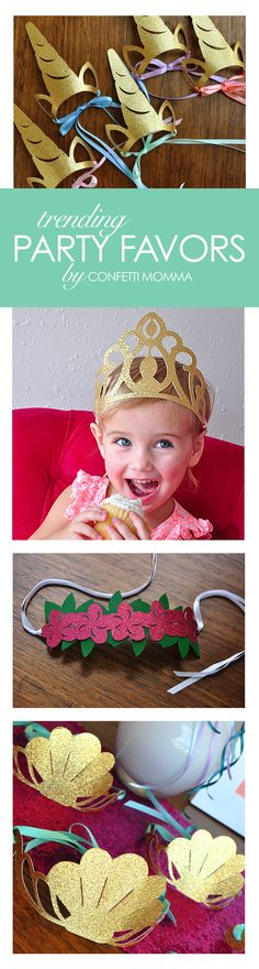 Love these adorable party favor crowns!