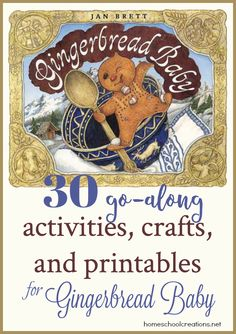 30 Activities, Crafts, and Printables for Gingerbread Baby by Jan Brett - Homeschool Giveaways Preschool Books, Preschool Christmas, Christmas Activities, Preschool Activities, Winter Activities, Christmas Math, Fall Preschool, Xmas, Christmas Gingerbread