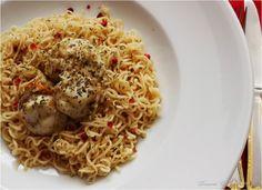 Vieiras Salteadas com Massa Noodles