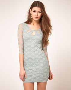 sheer lace sleeves in mint