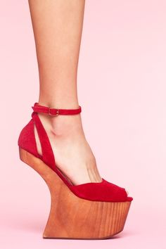 Str8up Platform - Red Suede $133- I have to know how these work