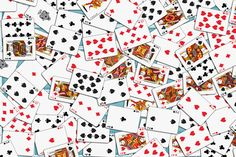 Playing cards Pattern 2.9 x 3.9 - Blue Backs fabric by stradling_designs on Spoonflower - custom fabric