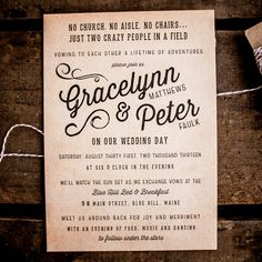 Rustic Wedding Invitation Suite The Gracelynn by inoroutmedia
