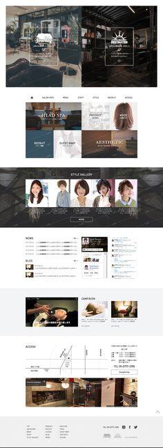 Nujebaさんの提案 - 【コーディングなし】ヘアサロンのサイトリニューアル。TOPデザインの募集 | クラウドソーシング「ランサーズ」 Best Web Design, Site Design, Web Layout, Layout Design, Web Japan, Web Colors, Chinese Design, Grid Layouts, Wordpress Theme Design