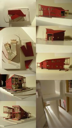 Y house by mrTINYman.deviantart.com Steven Holl, Alvar Aalto, Architecture Models, Case Study, Bungalow, Facade, House Ideas, New Homes, Stairs