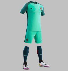 Portugal New Euro 2016 Kit- Portuguese Shirts (Home and Green Away) by Nike. Football Uniforms, Sports Uniforms, Football Kits, Football Jerseys, Cr7 Portugal, Portugal Soccer, Cristiano Ronaldo, Portugal Euro 2016, Soccer Skills