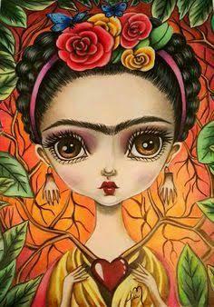 Resultado de imagen para frida kahlo catrina dibujo