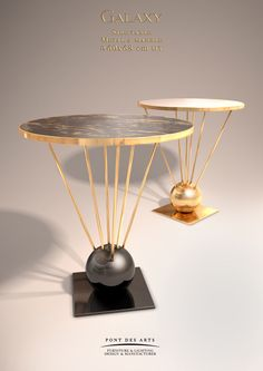 Galaxy Side table - Designer Monzer Hammoud - Pont des Arts Studio- Paris