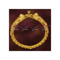 Bahubaali Jewellery Elephant Design Single Piece Kada Bangle Online Width of bangle is 11 mm. As shown in picture this is a single piece kada Size of the bangle can be chosen at the drop down menu available just near the add to cart button. Gold Plated Bangles, Elephant Design, Matte Gold, Single Piece, Plating, Perfume, Brass, Stone, Diamond