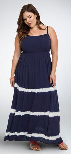 886424958abf0 Plus Size Tie Dye Gauze Maxi Dress Plus Size Fashionista