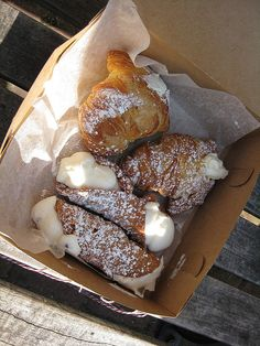 cannoli & lobster tails by howfinetodine, via Flickr
