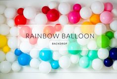 balloon backdrop from shopsweetlulu Ballon Backdrop, Balloon Garland, Balloon Decorations, Holiday Decorations, Rainbow Balloons, Helium Balloons, Baloon Wall, Wall Backdrops, Backdrop Ideas