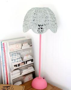 Crochet Lampshade  Gray от babytogo на Etsy, $67.00