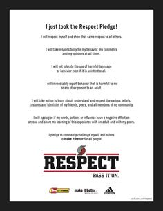 Have You Taken The Respect Pledge Yet?