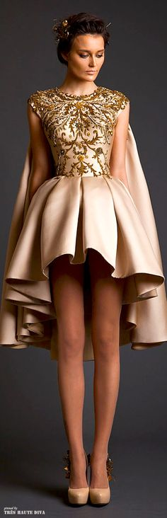 YES..Krikor Jabotian Couture S/S 2014..No cape and this dress PERFECT for birthday or even wedding reception