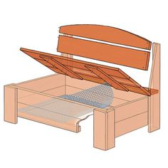 Corral your garden hoses with a handsome piece of outdoor furniture that cleverly conceals them under a lift-open seat Porch Storage Bench, Wooden Storage Bench, Storage Chair, Diy Garage Storage, Bench With Storage, Hidden Storage, Storage Ideas, Outdoor Storage, Backyard Furniture
