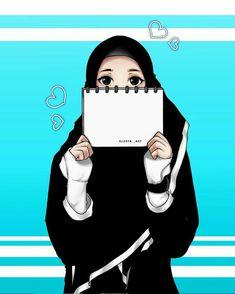 Cartoon Girl Images, Girl Cartoon, Cute Cartoon, Cute Muslim Couples, Muslim Girls, Hijab Drawing, Couple Sketch, 4 Wallpaper, Islamic Cartoon