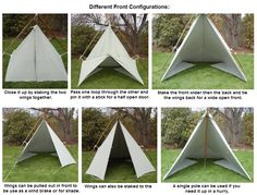 Tarp Tent Set Up configurations  sc 1 st  Pinterest & Basic drawing and steps for making a canvas tarp tent (want to use ...