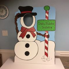 Snowman Photo Booth Prop . Winter Wonderland by LittleGoobersParty
