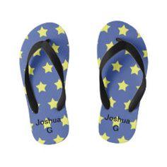 Shop Kids yellow-star flip flops created by BeautifulAndFree. Kids Flip Flops, Beach Flip Flops, Flip Flop Shoes, Yellow Flip Flops, Dog Bowtie, Gifts For Boys, Sock Shoes, Flipping, Kids Boys